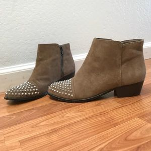 Steve Madden Praque Studded Suede Ankle Boot